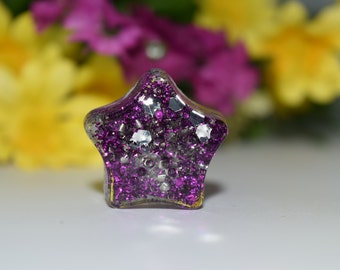 Orgone Energy Purple Star Mini 1 pc -Quartz Crystal, Pyrite, Blue Kyanite