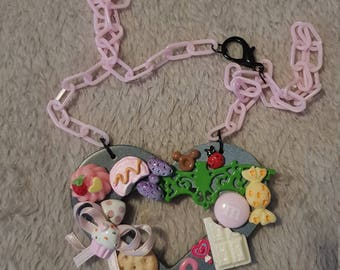 kawaii girly original heart necklace