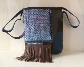 Patchwork Bag with Leather VanStoel#185