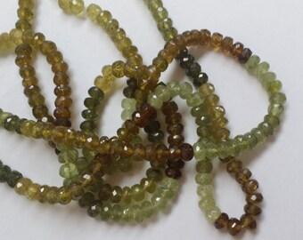 Green Grossular Garnet Rondelles