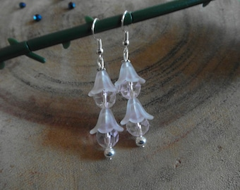 Frosted White Lily earrings