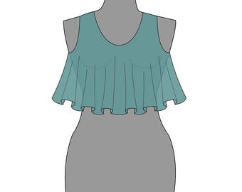 Swing Bodice PDF pattern and tutorial. Sewing pattern. Maternity gown. Formal dress. DIY.