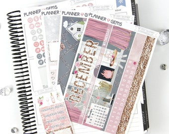 Be Light December Monthly View Planner Kit | ~200 Stickers | Planner Stickers | For Erin Condren LifePlanner