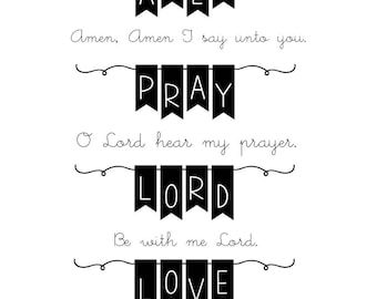 SRM Press Faith BIBLE BANNERS Clear Scrapbook Photopolymer Stamp Set