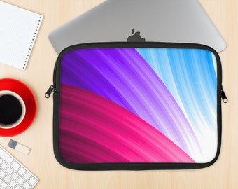 The Radiant Color-Swirls Dye-Sublimated NeoPrene MacBook Laptop Sleeve Carrying Case