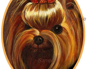 Yorkie Yorkshire Terrier Portrait Assorted Note Cards Set of 6 with Envelopes