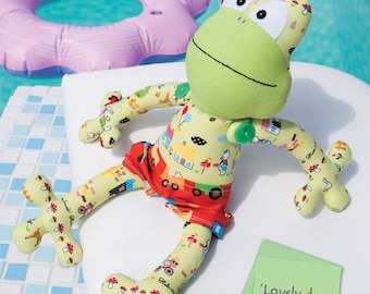 Finnegan the Frog Toy Sewing Pattern Download 803773