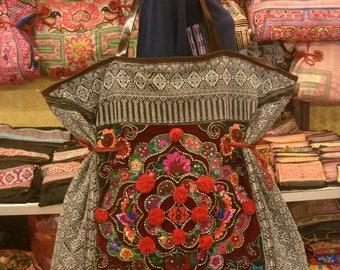 Tote/vintage -Tribal-Handmade Ethnic Hmong Bag 007