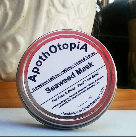 Seaweed Mask - Organic Face & Body Mask, Problem Skin, Spa Treatment, Eco Friendly and Sustainable Beauty