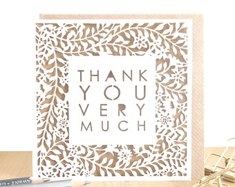 Thank you card, Wedding thank you cards, Thanks card, Thank you card pack, Thank you card set, Merci beaucoup card, Unique thank you card