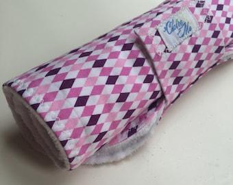 Baby changing pad roll up diamond geometric girl purple pink