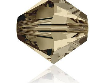 20-50 or 100 4 mm Smoky Quartz (Brown) Swarovski Crystal beads