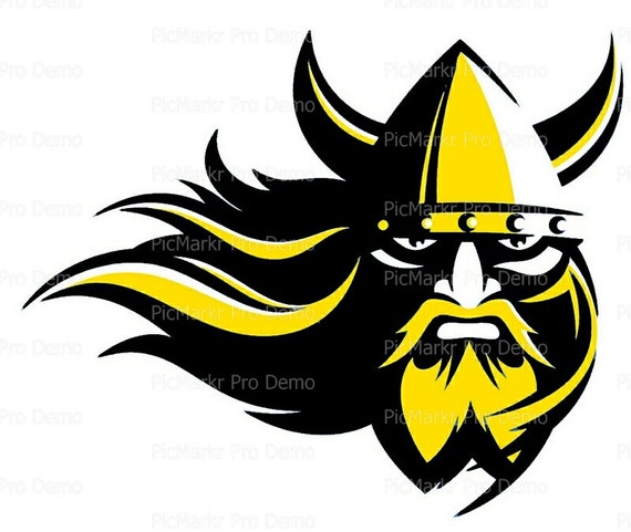 Gold & Black Viking Mascot - Edible Cake and Cupcake Topper For Birthday's and Parties! - D20517