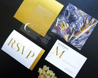 Sucrose Wedding Invitation Suite
