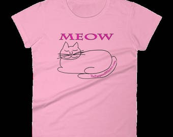 Cat Lovers Meow T-shirt