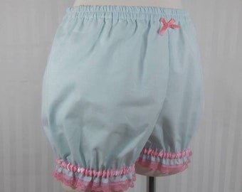 Light blue plain mini sweet lolita fairy kei bloomers shorts adult woman size small-plus size