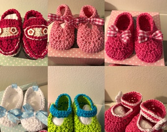 Crochet Baby Shoes 0 to 8 months
