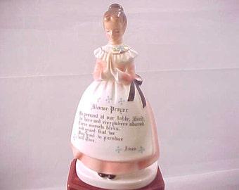 Porte-serviette de prière dame rose, décor de Table de cuisine collection des années 1950, céramiques Mail porte, Vintage Enesco Motif religieux