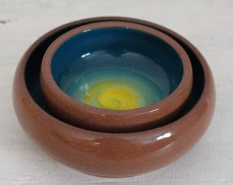 Hand thrown Pottery Nesting Bowls