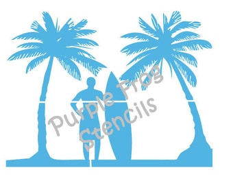 Surf STENCIL (Reusable) Different Sizes and Thickness, Ocean, Beach, Surfing