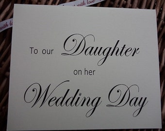 Wedding card to our Daughter on her wedding day, Wedding card, wedding day card card for daughter on her wedding daywedding cards, weddings,
