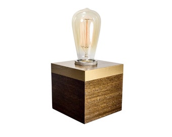 Edison Table Lamp, Edison Bulb Table Lamp, Cube Lamp, Edison Bulb Lamp, Edison Lamp, Industrial Table Lamp, Modern Table Lamp