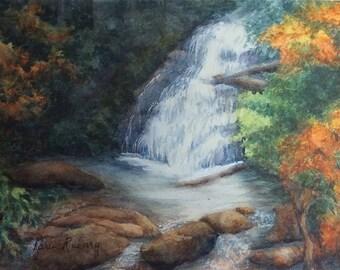 Helton Creek Falls (Watercolor)