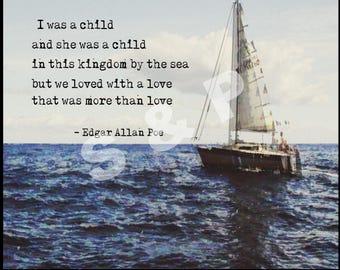 Edgar Allan Poe Annabelle Lee 8x10 Wall Decor Art Print ***Instant Download***