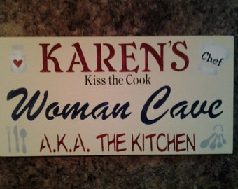 Personalized kitchen sign for your favorite cook