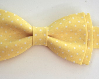 Yellow bow ties for boys,boys gifts,baby shower gift,wedding gift for boys,yellow bow tie,boys wedding bow tie