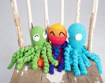 Preemie Octopus \\ Preemie Gift \\ Soothing Toy \\ Choose Your Color
