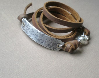 Gypsy Street Cuff. Multi Wrap Leather. Rustic Boutique Design. Personalized GIFT . His or Hers Boutique Cuff. Big Brother. Big Sister.