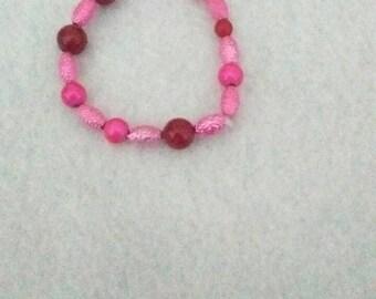 Pink stretch bracelet