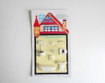 Micro Mini Bathroom, Micro Mini Furniture, Micro Mini Bathtub, Micro Mini Toilet, Micro Mini Sink, Dollhouse Bathroom, Miniature Bathroom