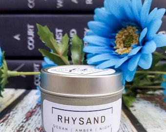 Rhysand | A Court of Mist and Fury | Soy Candle |  Book Candle | Book Lover Gift | Flickering Tales