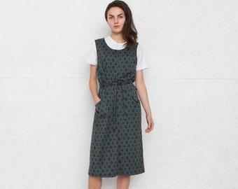 Vintage Green Dress/ Pinafore/ Size M