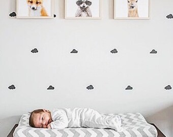 Cloud Wall Decals/ Fluffy Clouds Kids Wall Decals/ Vinyl Lettering Decal Wall Art/ Children Wall Decal/ Clouds/ Nursery Decor/ FREE SHIPPING