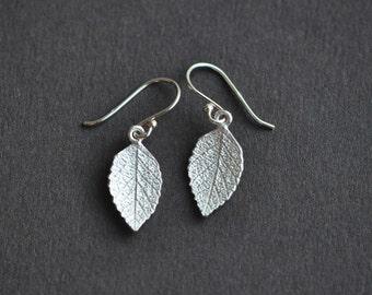 Leaf Earrings - Leaf Drop Earrings - Sterling Silver Leaf Earrings - Nature Jewelry - Fall Leaf Earrings - Gift For Women - Fall Fashion