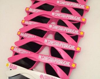 Personalized Sunglasses, Bachelorette Party Sunglasses, Custom Sunglasses, Wedding Favors, Flower Girl Gift, Ring Bearer Gift