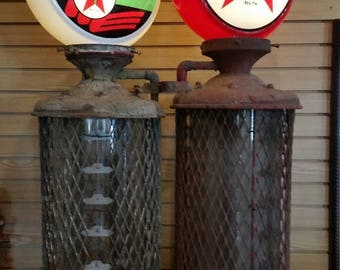 Gilbert and Barker double visible gas pump