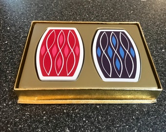 Mid-Century Contouro Playing Cards on Original Box-Cool! Free shipping.