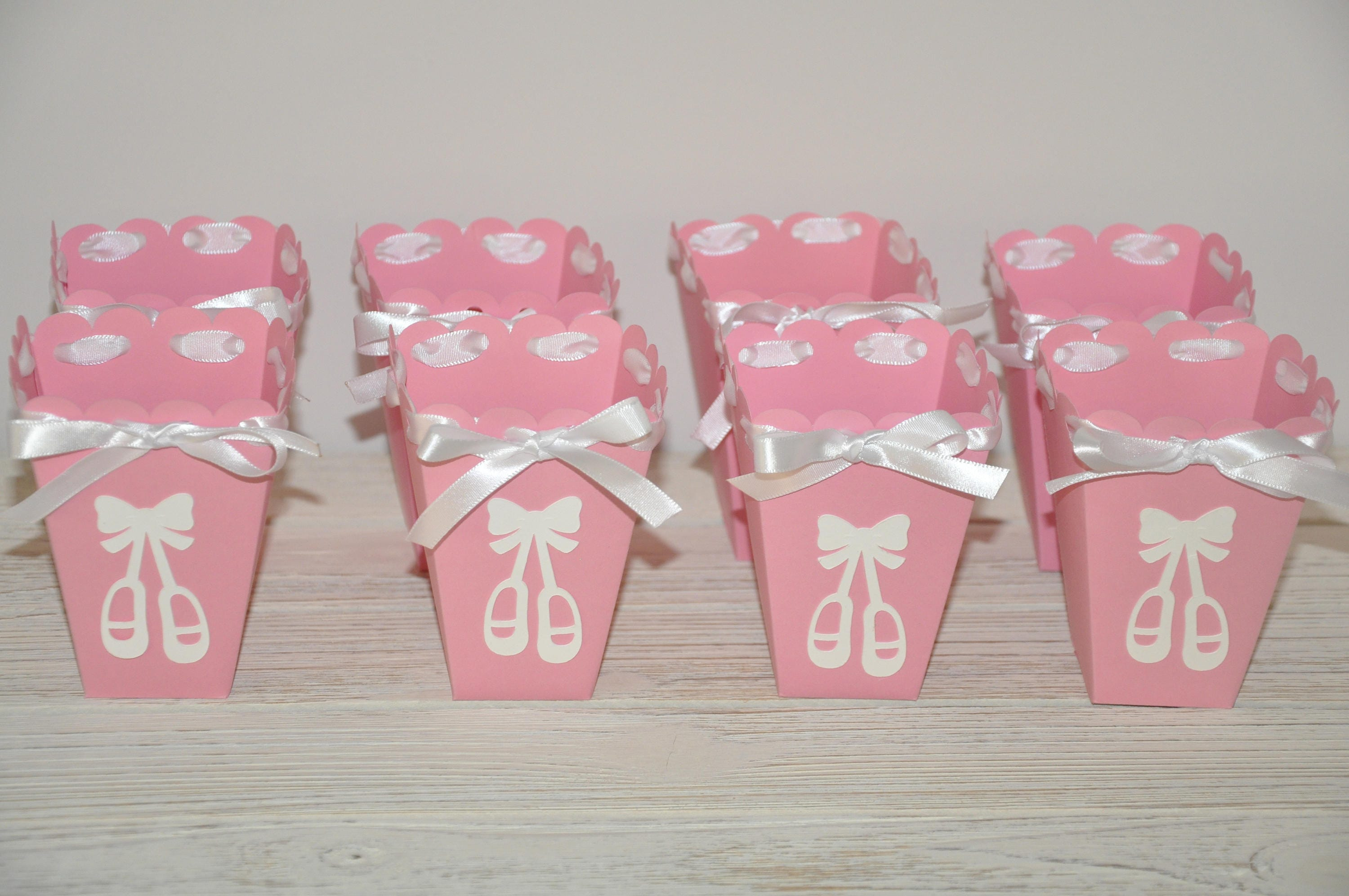 Ballerina Favor Box for Candy or Popcorn Pink & White. Great
