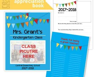Teacher Appreciation Book - Teacher Appreciation Gift - Class Teacher Appreciation Activity