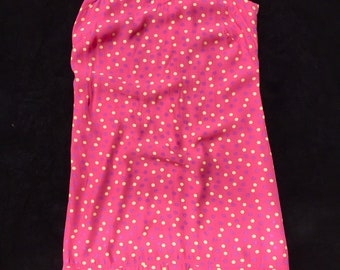 Vintage Bright Pink Polka Dotted Dress (Women's S)