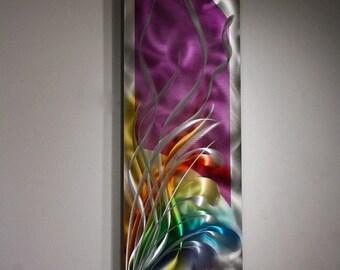 Wilmos Kovacs Original Art Metal Wall Sculpture Abstract Decor Painting - W692