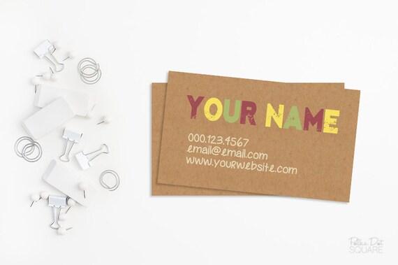 Business card design kraft paper business card kraft business colourmoves