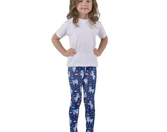 Midnight Girls Unicorn Lover Printed Tights | Unique Leggings | Art Leggings | Kids Leggings | Toddler Leggings | Girls Clothing