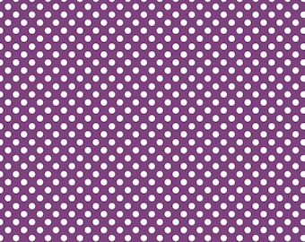 Small Dots Purple - Half Yard Cut - Riley Blake Designs - Cotton Fabric - Dots Fabric