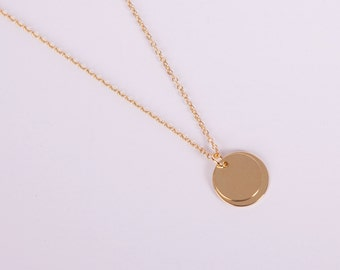 Golden Necklace Disc Gold  Coin Gold Necklace