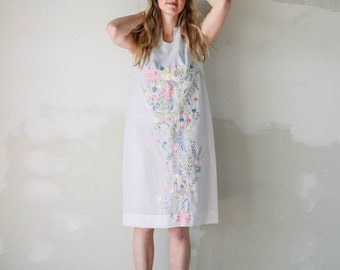 vintage embroidered South Pacific dress